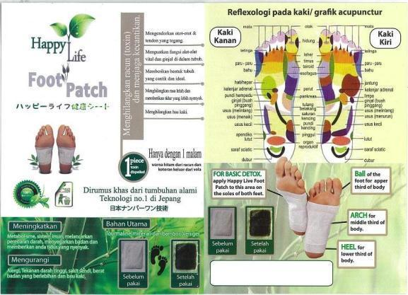 Happy Life Foot Patch Surabaya Sidoarjo