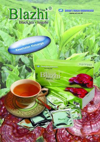 black tea + lingzhi