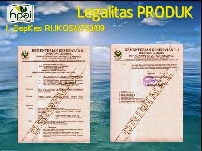 sertifikat deep beauty legalitas produk