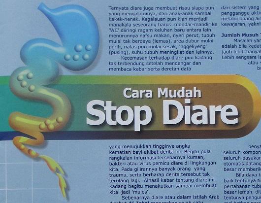bagaimana cara stop diare dengan cepat