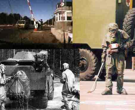 Penyemprotan anti radioaktif radiasi chernobyl
