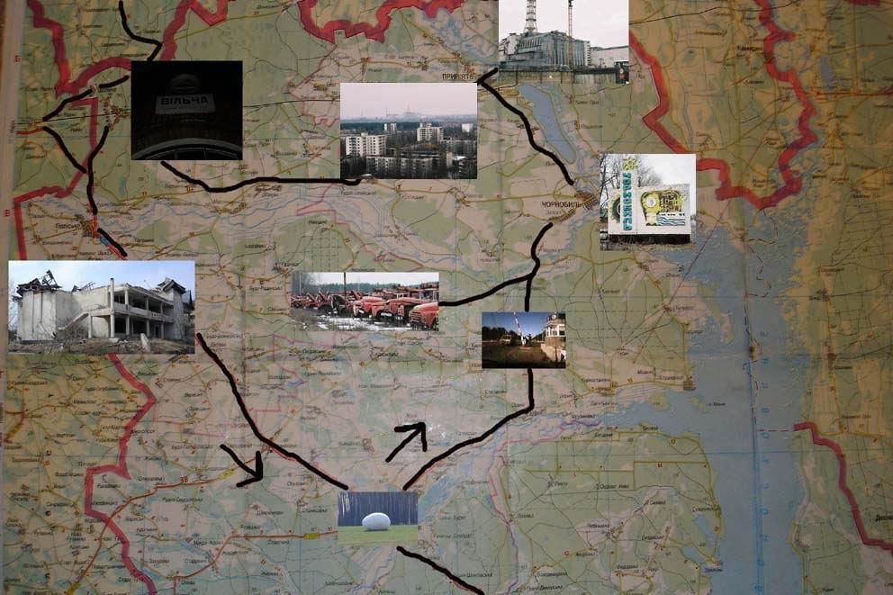peta bencana chernobyl